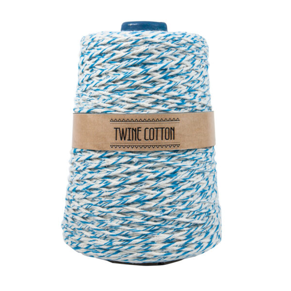 Twine Cotton Bicolor - Azul Turquesa