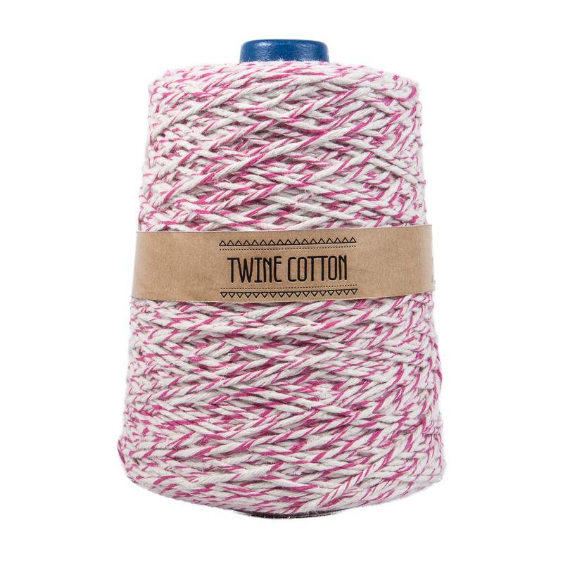 Twine Cotton Bicolor - Rosa