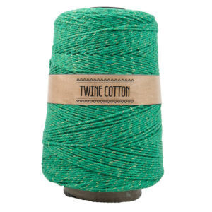Twine Cotton Metalizado - Verde/Dourado