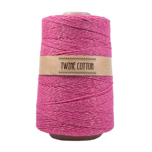 Twine Cotton Metalizado - Rosa/Dourado