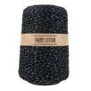 Twine Cotton Metalizado - Preto/Prata