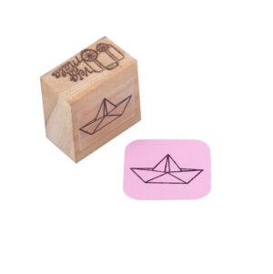 Carimbo Barco de Papel