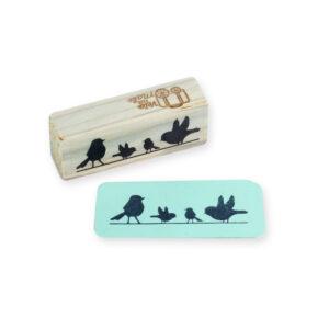 carimbo mini pássaros