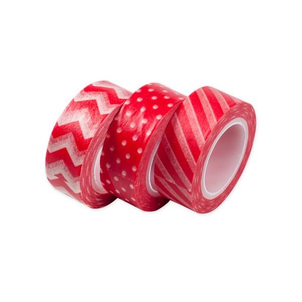 Kit Washi Tape Vermelho