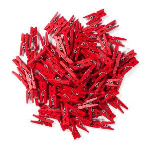 Mini Pregador de Madeira Vermelho