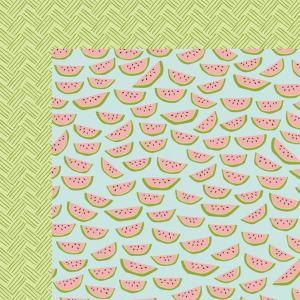 papel scrap melancia