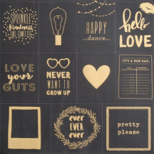 papel scrap quadro negro cartoes gold