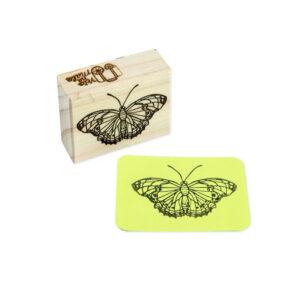 carimbo borboleta dália