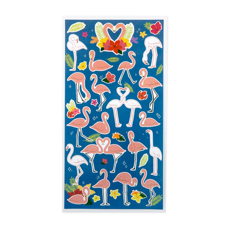 adesivos flamingos