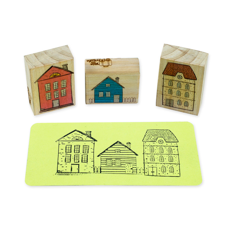 carimbo trio de casas