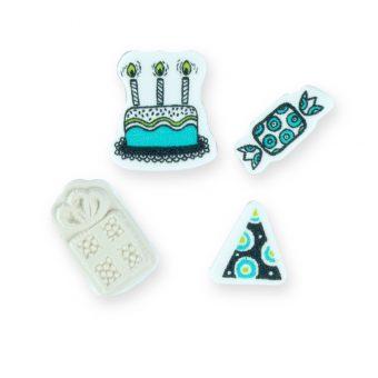 kit carimbos feliz aniversário