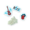 kit carimbos dia de rock
