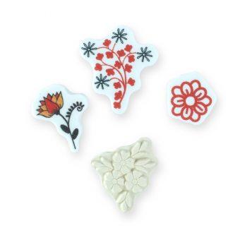 kit carimbos flores
