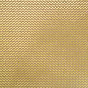 papel scrap chevron kraft gold