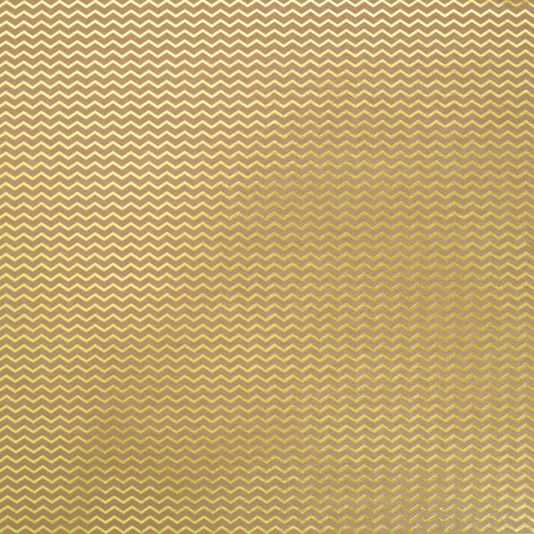 papel scrap chevron kraft gold