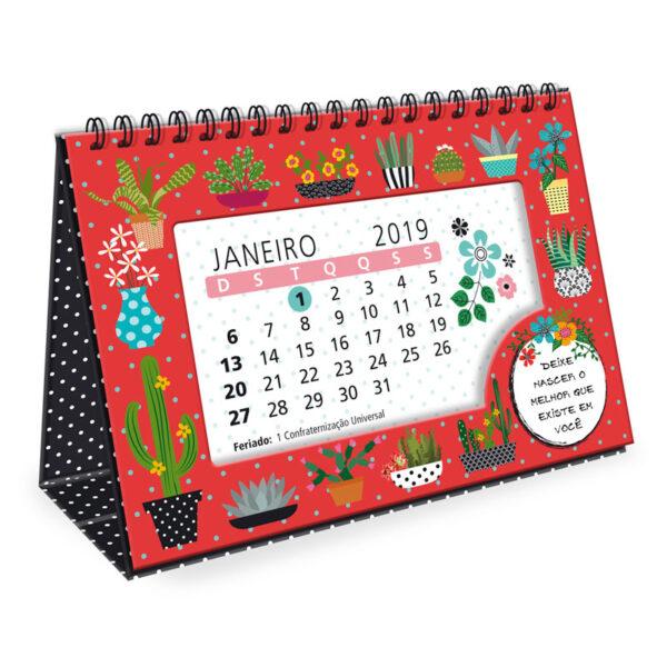 Calendário de Mesa 2019 - Cactos