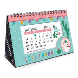 Calendário de Mesa 2019 - Lhama