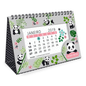 Calendário de Mesa 2019 - Panda
