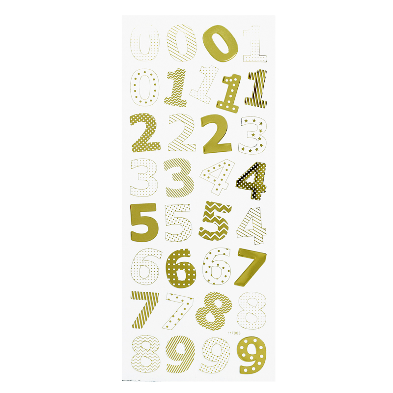 Adesivos Números Gold