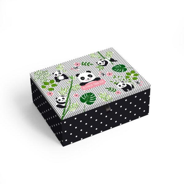 caixa panda pequena