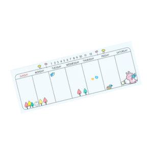 Mini Planner Semanal - Ursinho