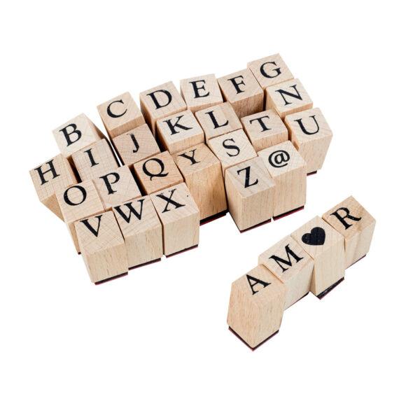 Carimbo Alfabeto - 28 peças