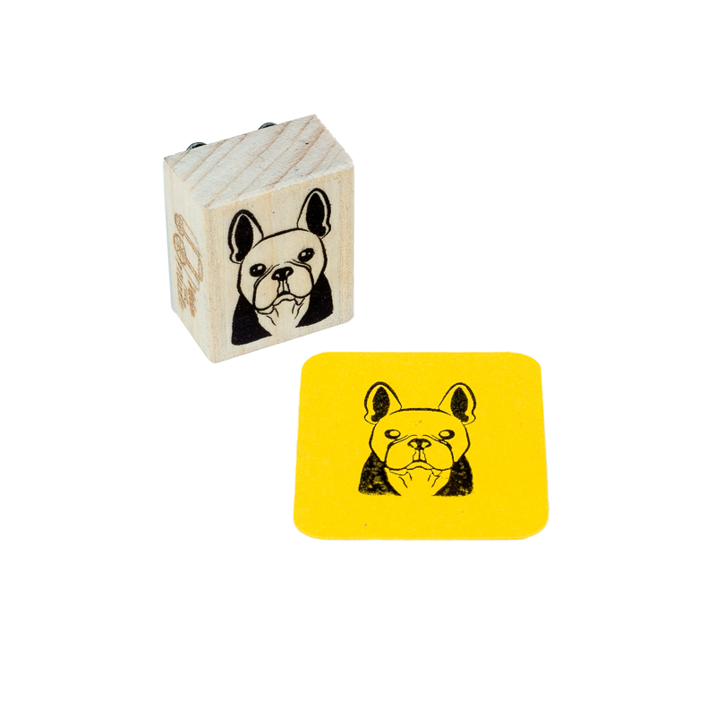 carimbo bulldog frances dog
