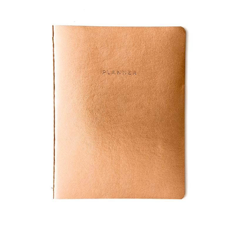 Agenda Planner Metalica cobre