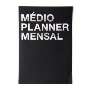 medio planner mensal preto