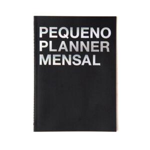 pequeno planner mensal preto