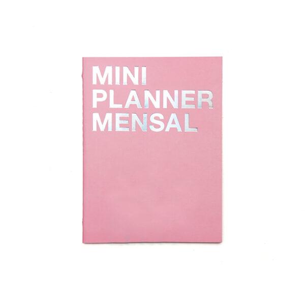 Mini planner mensal rosa