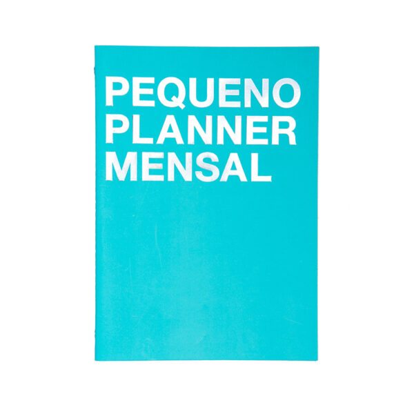 Pequeno Planner Mensal Azul