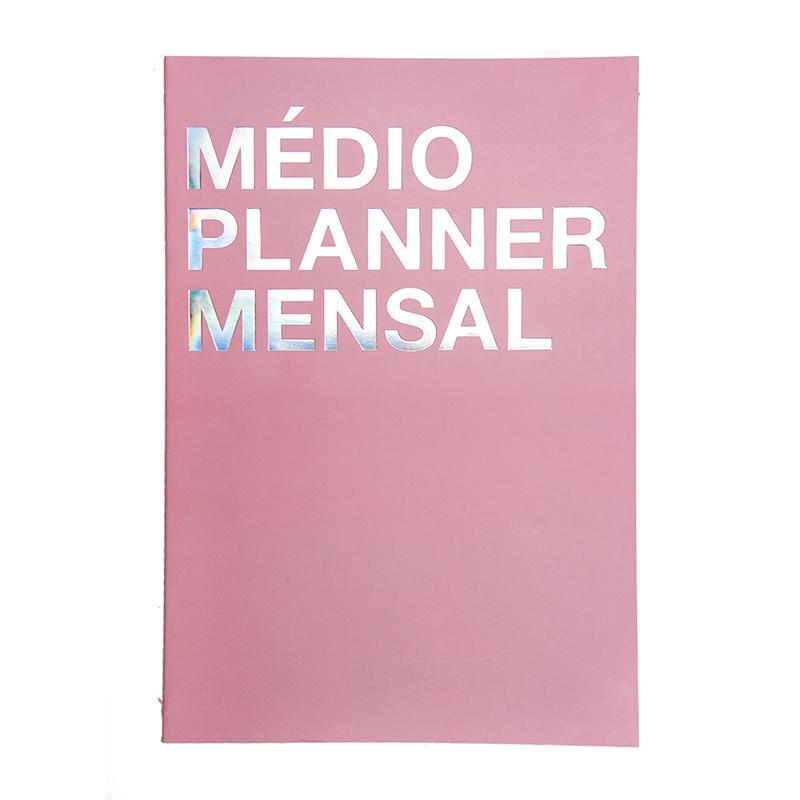 Medio planner mensal rosa