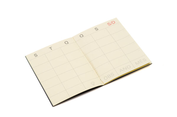 Mini Planner Mensal Preto