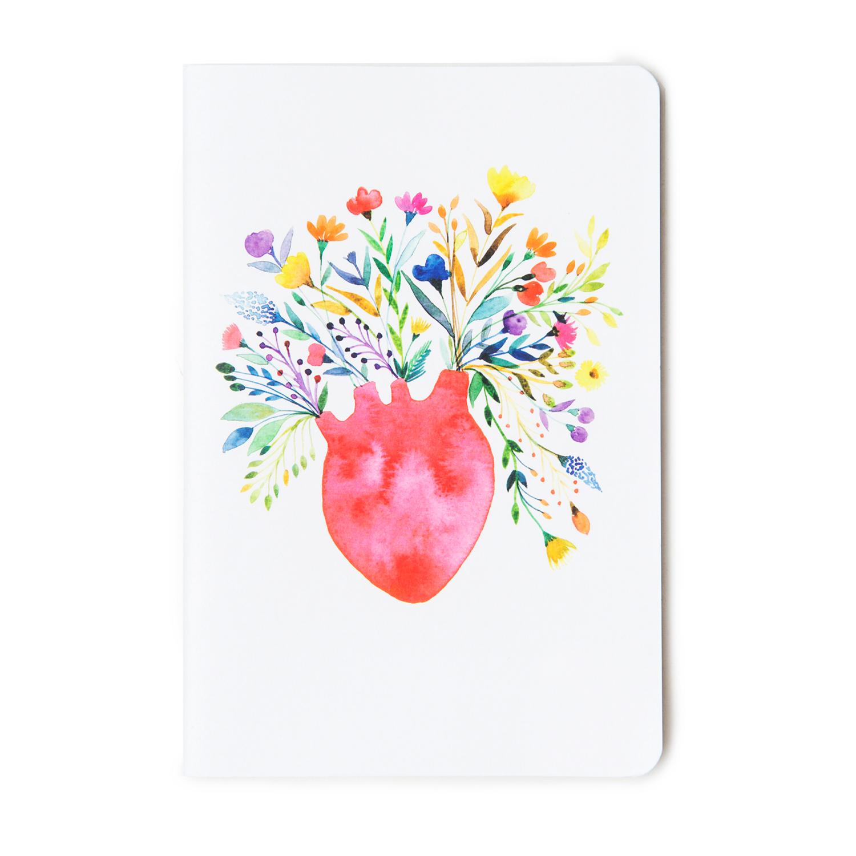 Caderno Jardins Coração