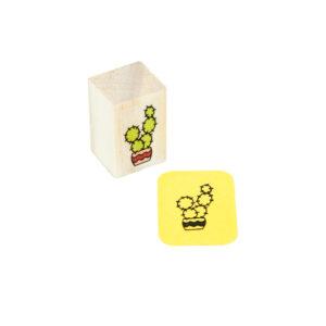 Carimbo Mini Cacto Bolhas
