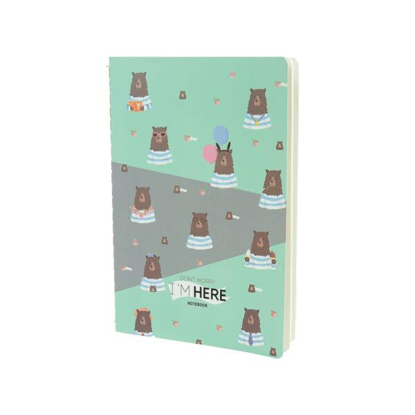 Caderno Urso Navy