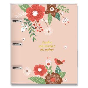 caderno argolado jardim