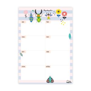 Planner Semanal Insetos