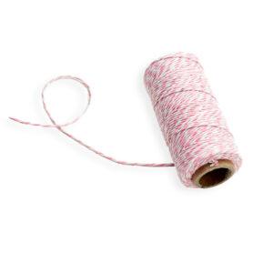 twine cotton rosa e branco