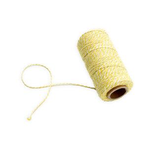 twine cotton amarelo e branco