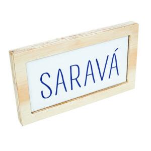 Placa Saravá
