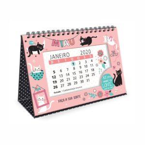 Calendário de Mesa Gato Miau 2020