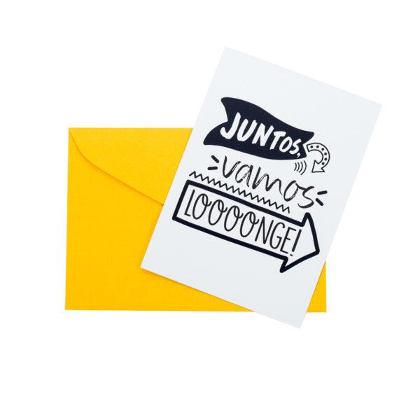 Postal Vamos Longe