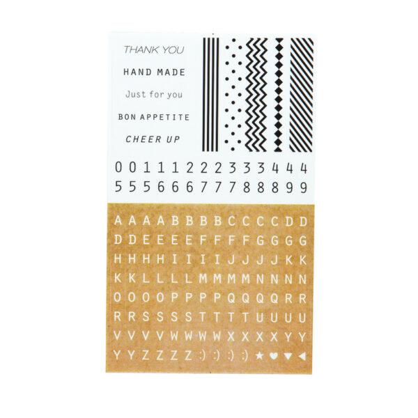 Adesivos Alfabeto + Números