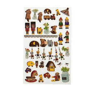Adesivos Brinquedos de Madeira