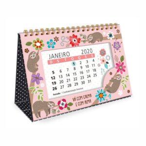 Calendário de Mesa Bicho Preguiça 2020