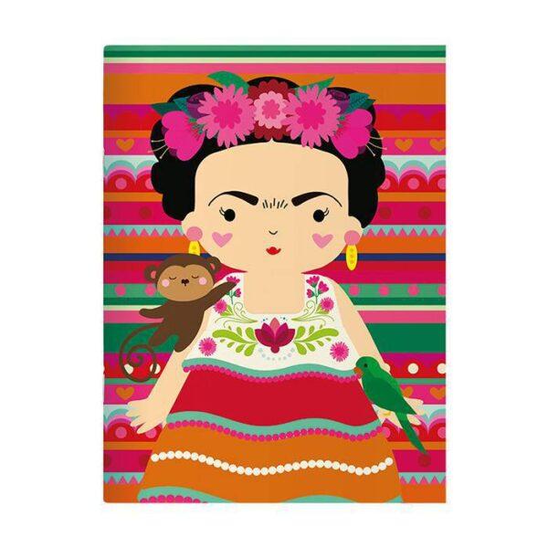 Caderno Pontado Frida Colores