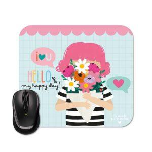 Mouse Pad - Menina Buquê