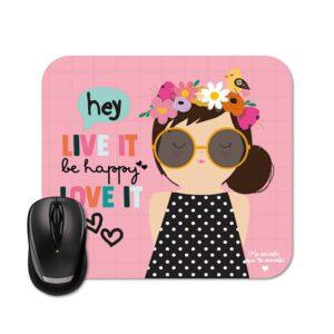 Mouse Pad - Menina Floral